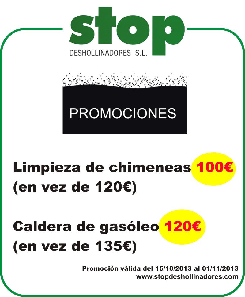 Promociones stop deshollinadores EN CHIMENEAS Y CALDERAS