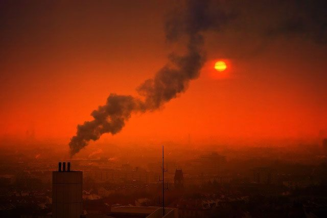 humos de las chimeneas Comunitarias